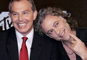 Blair and Geldof come to blows over Africa.