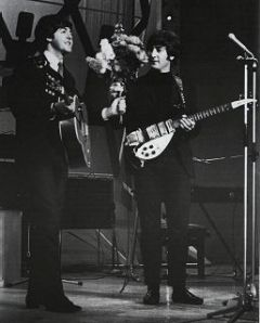 Paul and John in Blackpool, 1965